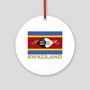 Swaziland Flag Gear Ornament (Round)