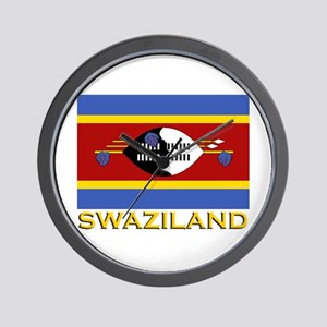 Swaziland Flag Gear Wall Clock