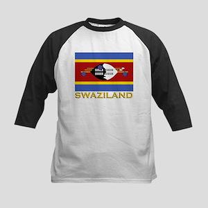 Swaziland Flag Gear Kids Baseball Jersey