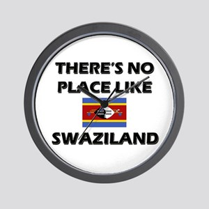 There Is No Place Like Swaziland Wall Clock