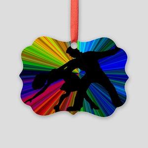 Dazzling Dance Silhouettes Picture Ornament