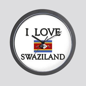 I Love Swaziland Wall Clock