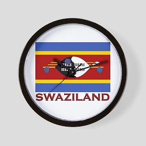Swaziland Flag Merchandise Wall Clock