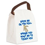 Show Me On The Doll Canvas Lunch Bag