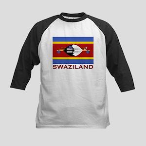 Swaziland Flag Merchandise Kids Baseball Jersey
