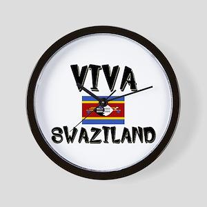 Viva Swaziland Wall Clock