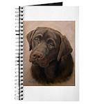 Chocolate Lab Portrait Painting Journal