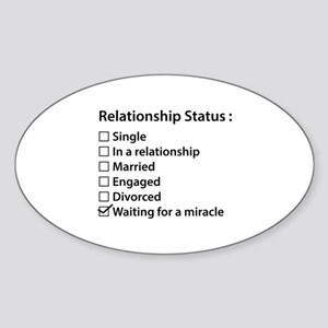 Relationship Status Sticker (Oval)