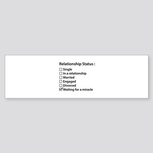 Relationship Status Sticker (Bumper)