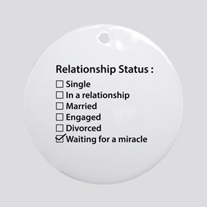 Relationship Status Ornament (Round)