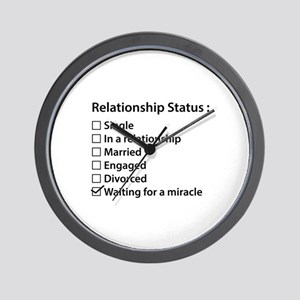 Relationship Status Wall Clock