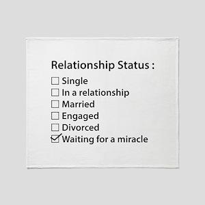 Relationship Status Throw Blanket