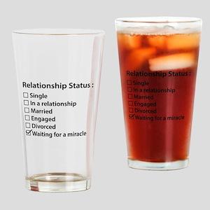 Relationship Status Drinking Glass