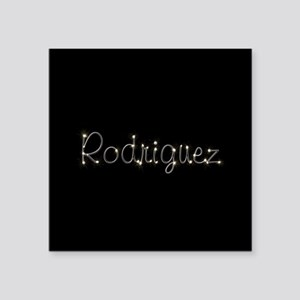 "Rodriguez Spark Square Sticker 3"" x 3"""
