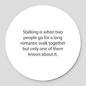 Stalking Round Car Magnet