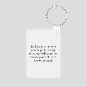 Stalking Aluminum Photo Keychain