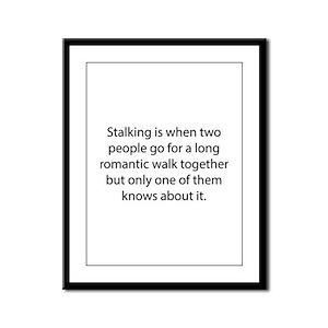 Stalking Framed Panel Print