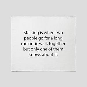 Stalking Throw Blanket