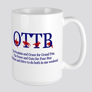 OTTB - The EVERYTHING horse - Large Mug