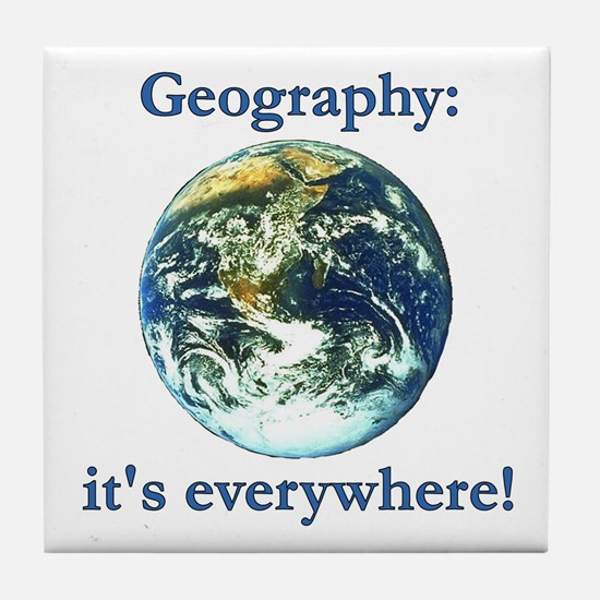 Geography Tile Coaster