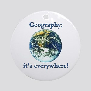 Geography Ornament (Round)