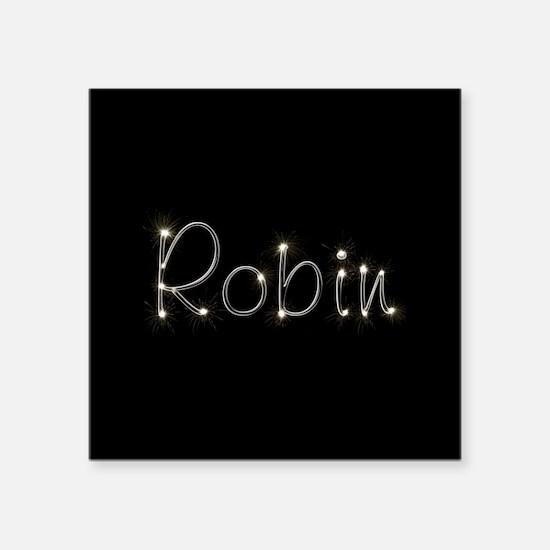 """Robin Spark Square Sticker 3"""" x 3"""""""