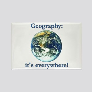 Geography Rectangle Magnet