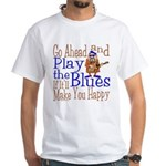 Play The Blues White T-Shirt