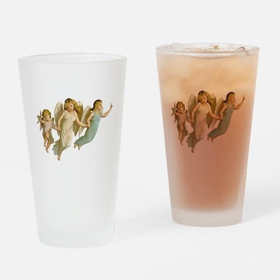 Angel Children Drinking Glass