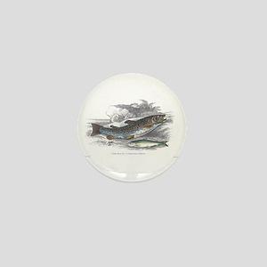 Trout Fish Mini Button