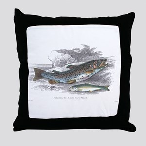 Trout Fish Throw Pillow