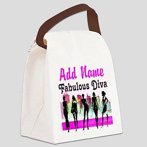 FABULOUS DIVA Canvas Lunch Bag