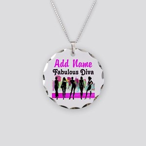 FABULOUS DIVA Necklace Circle Charm