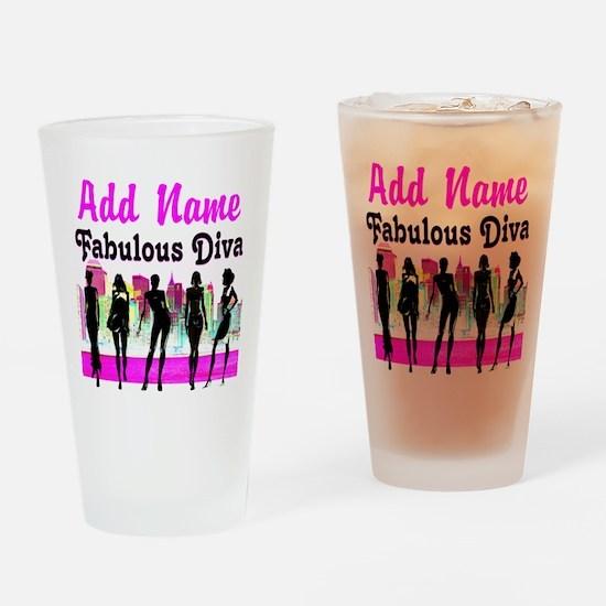 FABULOUS DIVA Drinking Glass
