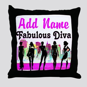 FABULOUS DIVA Throw Pillow