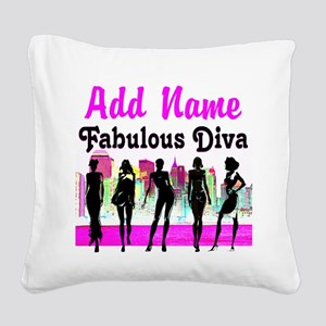 FABULOUS DIVA Square Canvas Pillow