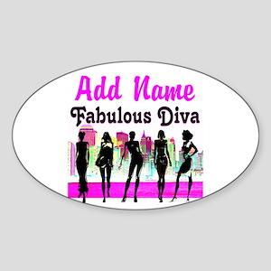 FABULOUS DIVA Sticker (Oval)