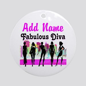 FABULOUS DIVA Ornament (Round)