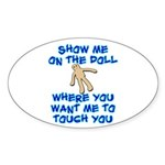 Show Me On The Doll Sticker (Oval 10 pk)