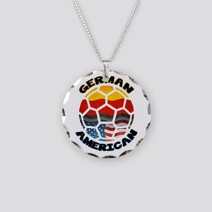 German American Football Soccer Necklace Circle Ch