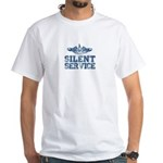 Silent Service with Submarine Dolphins White T-Shi