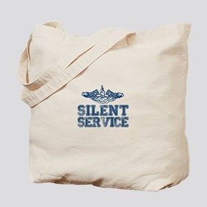 Silent Service with Submarine Dolphins Tote Bag