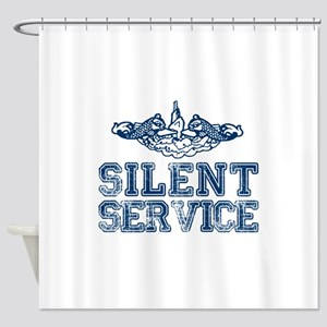 Silent Service with Submarine Dolphins Shower Curt