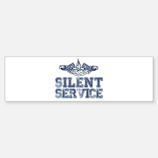 Silent Service with Submarine Dolphins Bumper Bumper Sticker