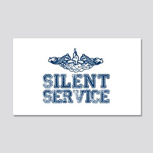 Silent Service with Submarine Dolphins 20x12 Wall