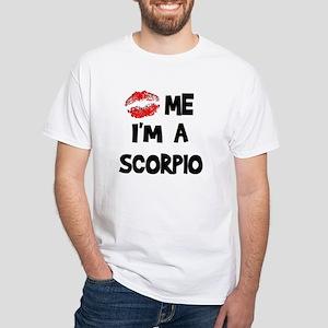 Kiss Me I'm a Scorpio White T-Shirt