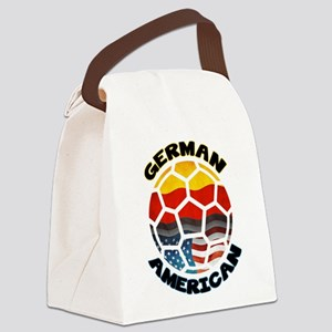 German American Football Soccer Canvas Lunch Bag