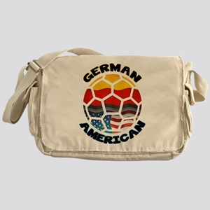 German American Football Soccer Messenger Bag
