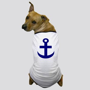 Anchor or Mariners Cross Blue Dog T-Shirt