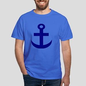 Anchor or Mariners Cross Blue Dark T-Shirt